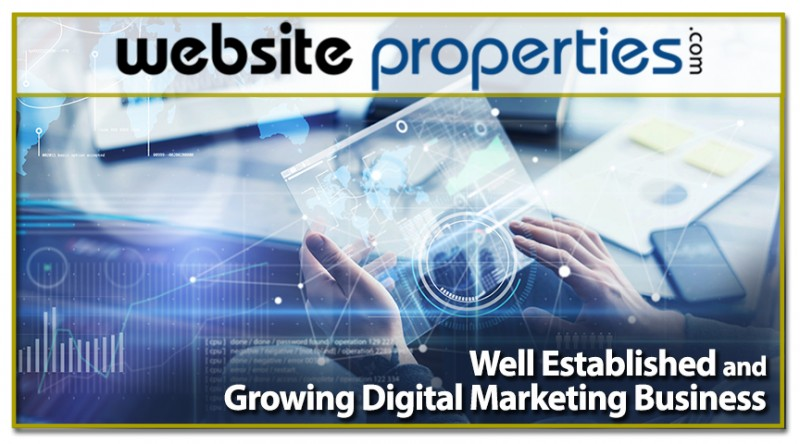 Well Established And Growing Digital Marketing Business