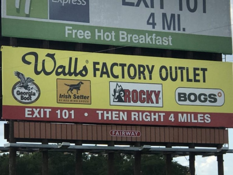 Walls Factory Outlet Store For Sale, $368,000