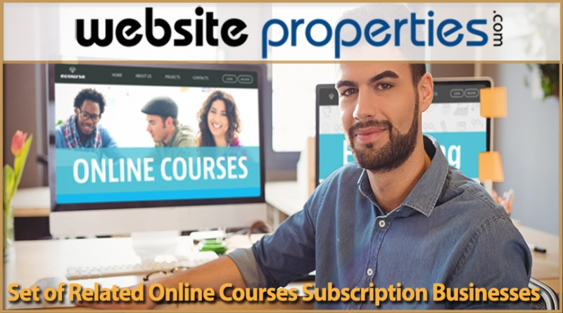 Set Of Related Online Courses Subscription Businesses