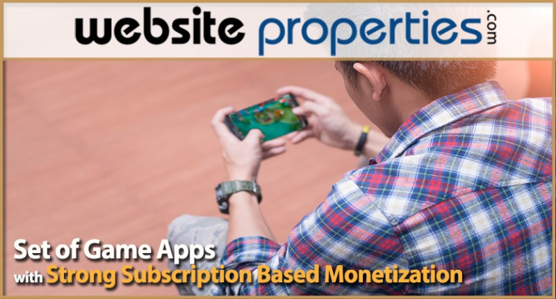 Set Of Game Apps With Strong Subscription Based Monetization